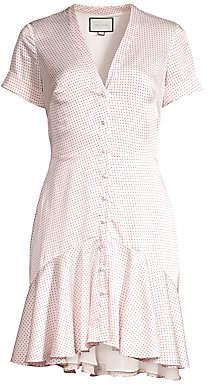 Alexis Women's Alza Polka Dot Button Front Mini Dress