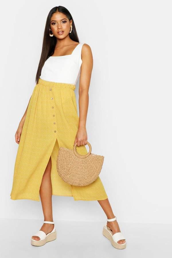39003e512d Mustard Midi Skirt - ShopStyle