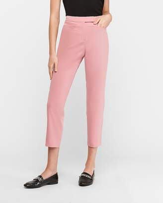 Express High Waisted Extended Tab Cropped Pant