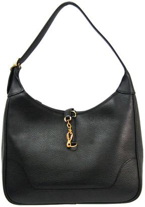 Hermes Black Togo Leather Trim 31 Shoulder Bag