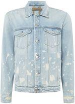 Calvin Klein Men's Vintage Splatter Denim Jacket