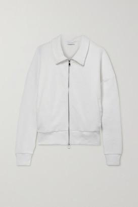 Ninety Percent + Net Sustain Oversized Organic Cotton-fleece Jacket - White