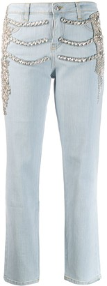 Philipp Plein crystal embellished Boyfriend jeans