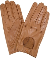 Forzieri Women's Tan Perforated Italian Leather Driving Gloves