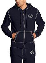 True Religion Men's Horseshoe Zip Long Sleeve Hoodie