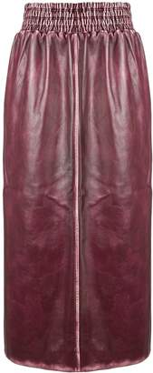 Miu Miu sports trim midi skirt