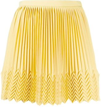 Marco De Vincenzo Zigzag Hem Pleated Skirt
