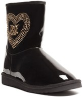 Love Moschino Patent Heart Studded Boot