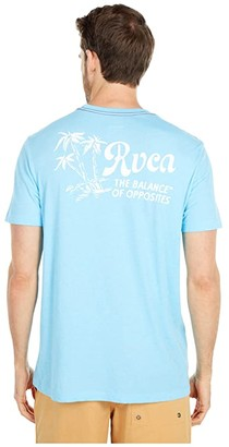 RVCA Tropical Disasters Short Sleeve (Vintage Blue) Men's Clothing