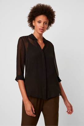 French Connection Crinkle Georgette Classic Shirt
