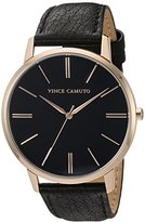 Vince Camuto Women's Quartz Stainless Steel and Leather Dress Watch, Color:Black (Model: VC/5322RGBK)