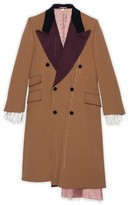 Gucci Asymmetric wool coat with stitching