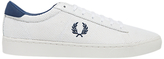 Fred Perry Spencer Leather Lace-up Trainers, White/french Navy