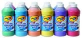 Crayola Washable Paint-16 oz - Multi-Colored (12 per Set)