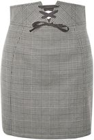 Topshop PETITE Corset Lace Up Skirt