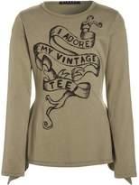 Sisley Long sleeved top khaki