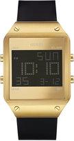 GUESS Men's Digital Black Silicone Strap Watch 55mm U0595G3