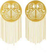 Paula Mendoza Pacha Gold-Plated Brass Earrings