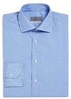 Canali Open-Check Regular Fit Dress Shirt