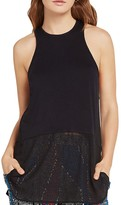 BCBGeneration Mixed-Media Racerback Tunic Top