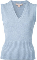 Michael Kors cashmere sleeveless knit top
