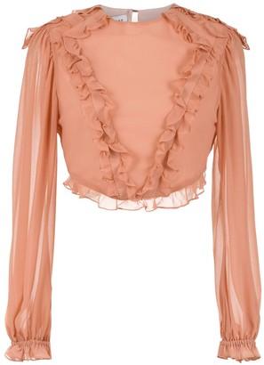 Olympiah ruffled Ravena blouse