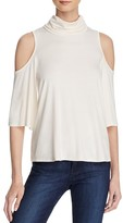 Ella Moss Bella Cold Shoulder Cowl Neck Top