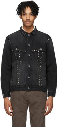 Billy Black Denim Studded Trucker Jacket