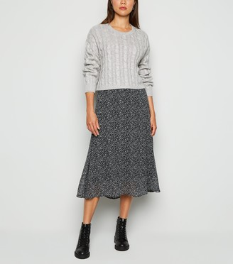 New Look Cable Knit Crop Jumper