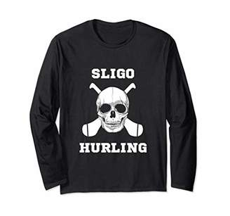 SLIGO Fan Gaelic Hurling Skull Long Sleeve T-Shirt