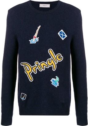 Pringle Multi-Patch Knit Jumper
