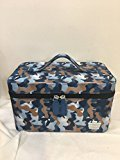 "Caboodles Medium Vanity Valet ""I Candy"" Makeup Case (Blue Camo)"