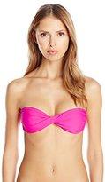 Hawaiian Tropic Women's Twist Bandeau Bikini Top Pink