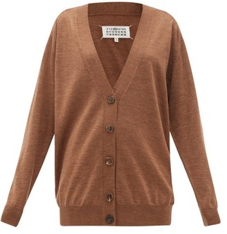 Maison Margiela V-neck Wool Cardigan - Womens - Brown