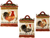 Certified International Tuscan Rooster 3-pc. Canister Set
