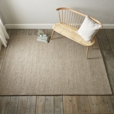 The White Company Hampton Looped Wool Rug, Biscuit, Medium