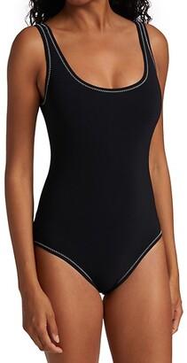 Karla Colletto Swim Cordelia Scoopneck One-Piece Swimsuit