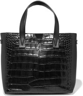 Vince Croc-effect and smooth leather tote