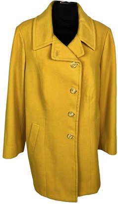 Max Mara Yellow Wool Coats