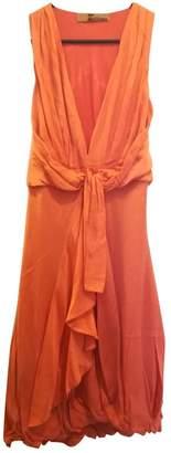 John Galliano Orange Silk Dress for Women