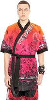 Gradient Printed Techno Mesh Kimono
