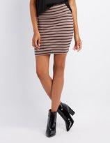 Charlotte Russe Striped Bodycon Mini Skirt