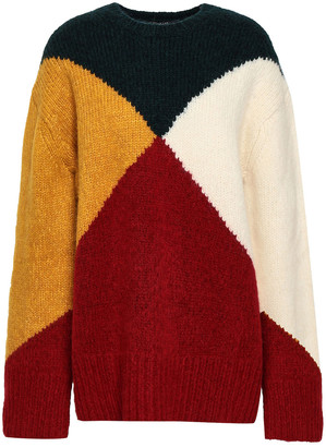 Derek Lam Color-block Intarsia-knit Sweater