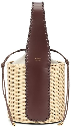 Max Mara Aisha straw basket bag