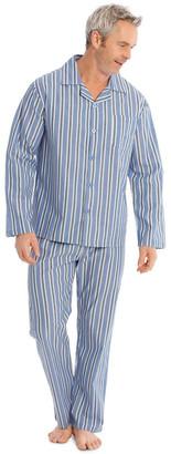 Reserve Long Sleeve Poplin PJ Set - Summer Stripe Lt