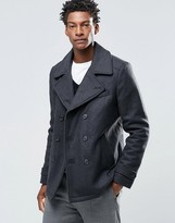 Selected Merser Wool Mix Pea Coat