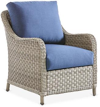 Mayfair Wicker Club Chair - Gray/Blue - South Sea Rattan