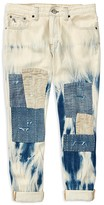 Ralph Lauren Girls' Bleached Patched Skinny Jeans - Big Kid