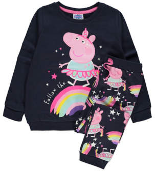 George Peppa Pig Navy Sweatshirt and Joggers Outfit