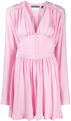 Rotate by Birger Christensen Corset Waist Mini Dress